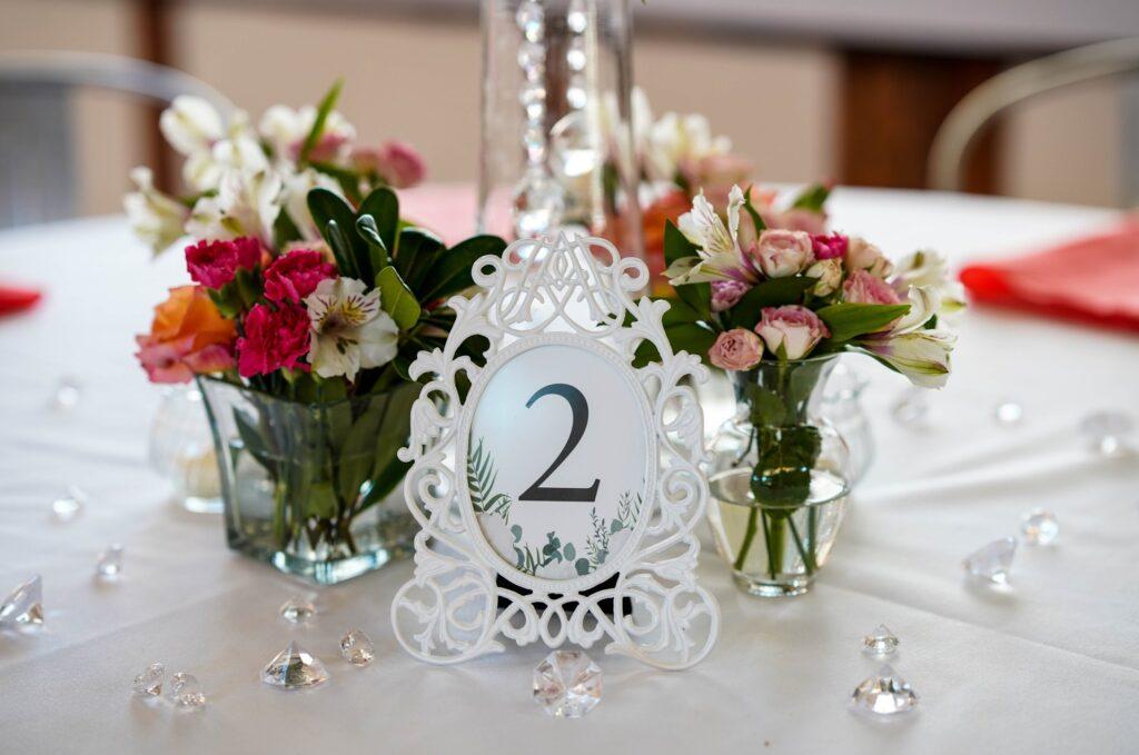 Custom framed table numbers